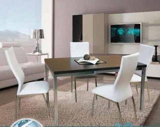 Juego Comedor Combo Living Mesa Milan 1.4 X 80 + 4 Sillas Agus Pintado Reforzadas Caño Garantia Y Directo De Fabrica Pr