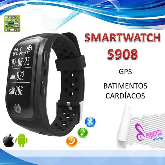 Relógio Smartband S908 Com Gps Android Ios Esportes Mede S2