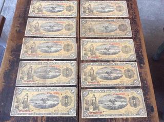 10 Billetes Antiguos De La Revolucion Mexicana