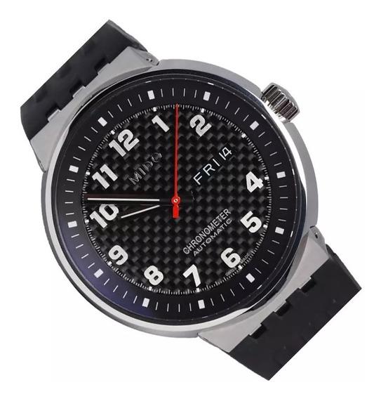 Reloj Mido M8340.4.d8.91 Caballero Plateado Con Caucho