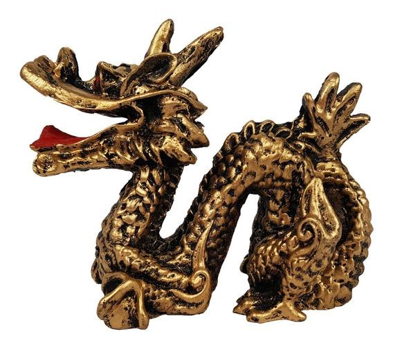 Dragao Chines Serpente Kung Fu Resina Enfeite Decoração 8cm