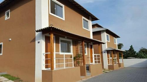 Imagem 1 de 8 de Fam760 Bela Casa Em Condomínio Com 2 Quartos Em Itapeba!