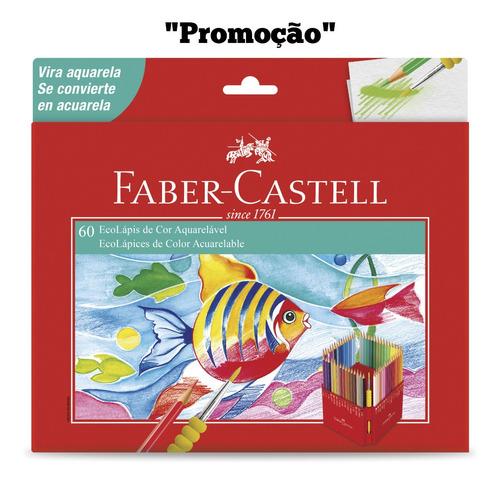 Lápis De Cor 60 Cores Aquarelável Faber Castell Promoção