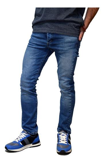 Jean Elastizado Moda Slim Fit Hombre Mistral 15992