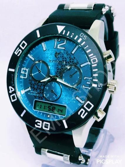 Relógio Luxo Dourado Militar Potenzia Barato+ Caixa Promoção