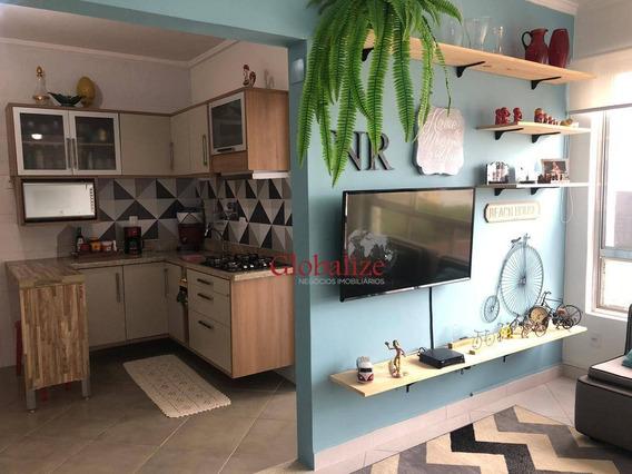 Apartamento Com 1 Dormitório À Venda, 82 M² Por R$ 299.000 - Campo Grande - Santos/sp - Ap0369