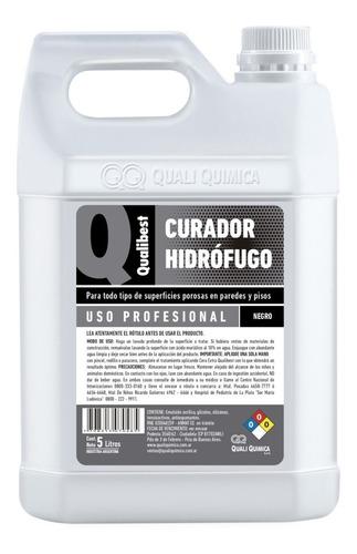 Curador Hidrofugo Qualibest Color Negro Bidon 5lts