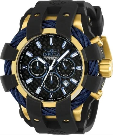 Relógio Invicta Bolt 23862 Banhado A Ouro 18k