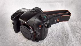 Maquina Fotográfica Sony Slt-a77v + 3 Lentes - Com Gps