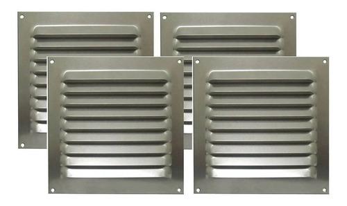 Kit 4 Grades De Ventilação Alumínio Itc 20x20cm Motorhome