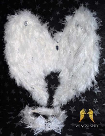 Alas De Angel Negras O Blancas C/