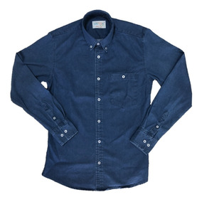 Oferta Camisa De Mezclilla Algodon Corte Slim Fit 4 Tonos