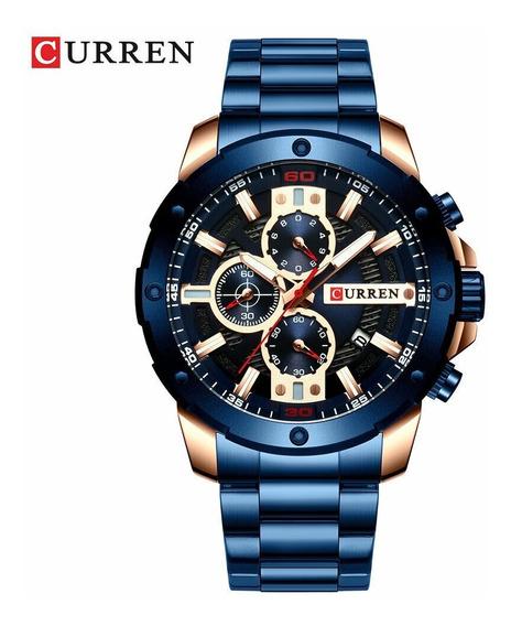 Relógio Curren 8336 Novo 2019 Lançamento Luxo