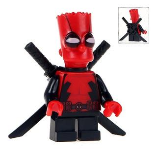 Figura Bartpool, Deadpool Bart Lego Para Armar 5cm