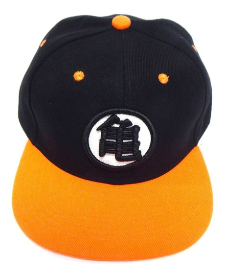 Gorra Plana Dragon Ball Niños Bordado Goku Ajustable Naranja