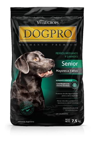 Imagen 1 de 6 de Alimento Balanceado Premium Dogpro Senior 7,5 Kg