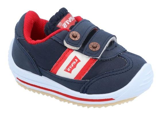 Tenis Levis 40259 Textil Azul/rojo 12 A 16 Niño Bebe