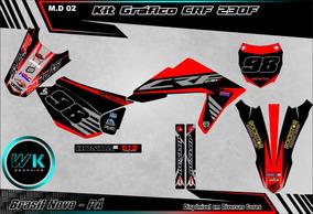 Kit Gráfico Crf 230f Adesivo 0.20m Laminado E Personalizados