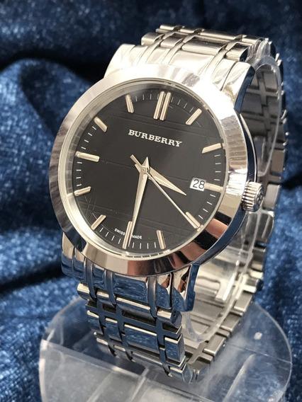 Relógio Nivel Omega Swiss Burberry 38mm Safira Todo Original