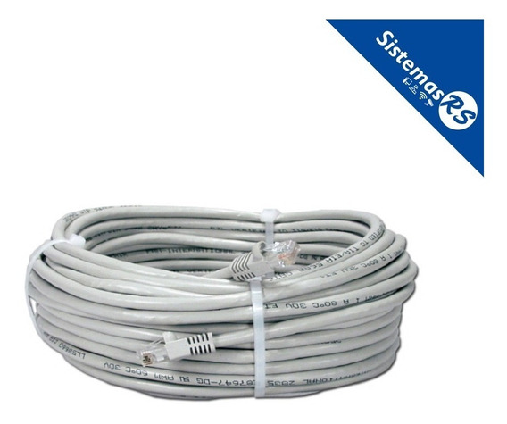 Cable De Red 20mts Patch Cord Internet Utp Rj45 Modem Router