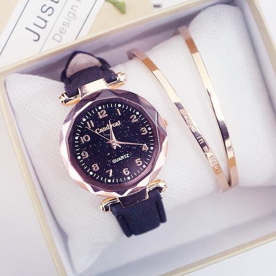 Relógio De Quartzo Casual Feminino Rosa