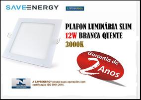 Kit 10 Painel Plafon Embutir Led 12w 3000k Saveenergy