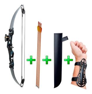 Arco E Flecha Catfish 35 Lbs + Aljava + 3 Flechas + Protetor