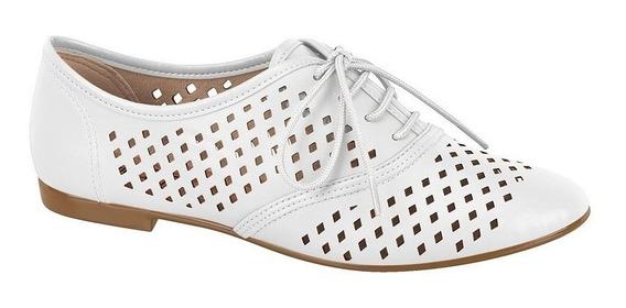 Sapato Feminino Oxford Beira Rio 4150206 Preto Nude Branco
