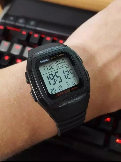 Relógio Digital Luxo Leve Confortável