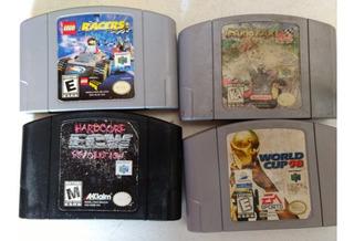 Lote 4 Juegos Nintendo 64 Mario Kart
