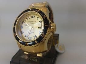 Relógio Quadrado Masculino Atlantis Prime Original