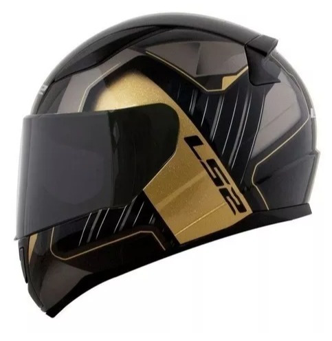 Capacete Ls2 Ff353 Rapid Medal Black/gry/gold