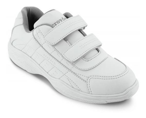 Zapato Colegial By Croydon Colegial Xxi Blanco Para Niños