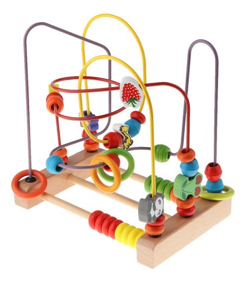 Wooden Wire Around Beads Maze Children Math Educational Lear