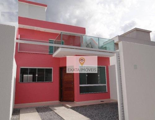 Imagem 1 de 15 de Casas Próxima A Uff/lagoa De Iriri, Jardim Bela Vista, Rio Das Ostras. - Ca0823