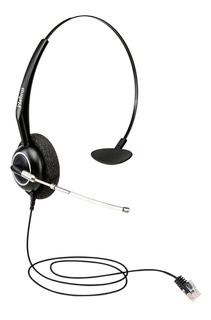 Fone Preto Headset Intelbras 4010056 150cm Ths 55 Com Cabo