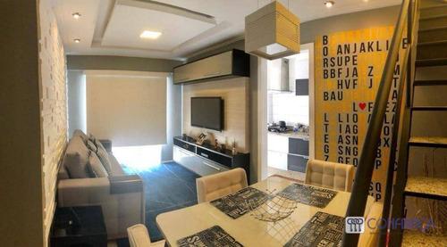 Cobertura Com 2 Dormitórios À Venda, 120 M² Por R$ 600.000,00 - Campo Grande - Rio De Janeiro/rj - Co0061