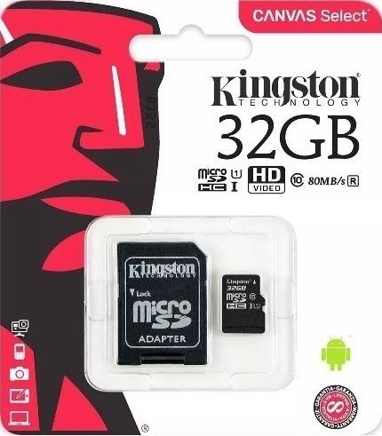 Cartão De Memória Kingston Micro Sd 32gb Classe 10