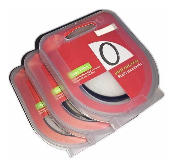 Kit Filtro Estrela 52mm Star Filter 4 6 8 Pontas Lente 52mm