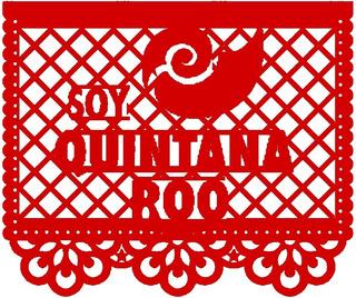 Decoración Papel Picado Estado Quintana Roo 30 Tiras
