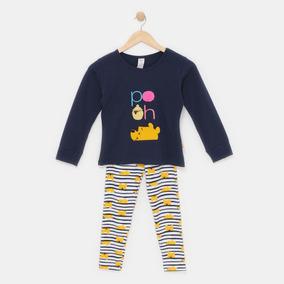 Pijama Para Niña Winnie The Pooh Disney Pantalon Blusa 5081