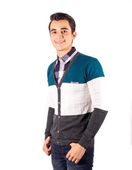 Sueter Con Media Camisa Frontal Integrada Marca Moderno 4est