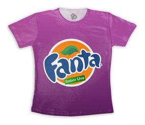 Camiseta Fanta Uva Carnaval Fantasia Cosplay