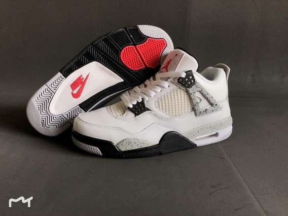 Tênis Nike Air Jordan 4 Retro White Cement (2016)