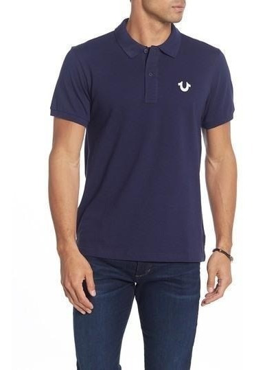 Playera Polo True Religion Hombre Original Azul