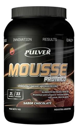 Imagen 1 de 3 de Prolac Whey Mousse Chocolate 1 Kg Postre Proteína Sin Tacc