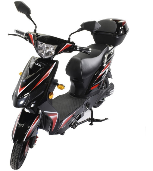 Moto Electrica Scooter Eco 800w 40 0km 60v Lucky Lion Negra