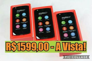 Moto Z2 Play Platinum/ Preto Com Garantia - 1649,00 A Vista