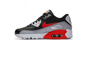 Tênis Nike Air Max 90 Leather Gs Reversed Infrared Original