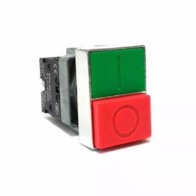 Kit 2 Pçs Botão Comando Duplo Verde/vermelho